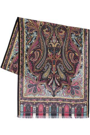 Etro   Hombre Calcutta Cashmere & Silk Scarf Unique