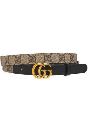 """Gucci   Mujer Cinturón """"gg Marmont"""" De Lona 2cm /black 70"""