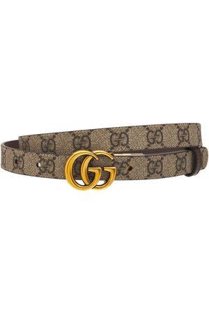 """Gucci   Mujer Cinturón """"gg Marmont"""" De Piel Reversible /beige 70"""