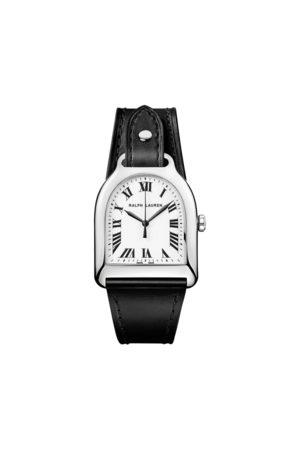 Ralph Lauren Reloj mediano con esfera blanca de acero
