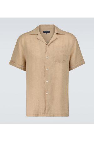 Frescobol Carioca Camisa Thomas de lino con cuello cubano