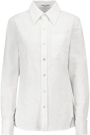 Saint Laurent Mujer Manga larga - Camisa de lino y algodón