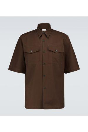DRIES VAN NOTEN Camisa de manga corta de algodón