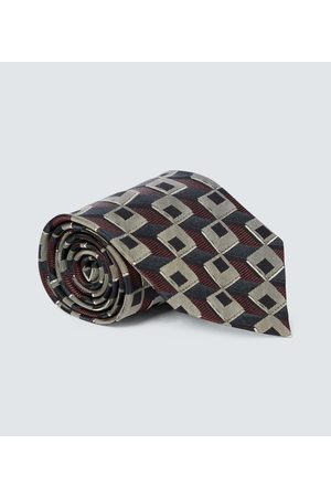 DRIES VAN NOTEN Corbata de seda estampada