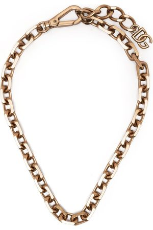 Dolce & Gabbana Collar de cadena con placa del logo