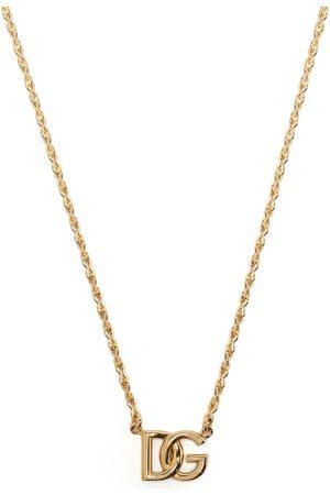 Dolce & Gabbana Hombre Collares - Collar de cadena con logo DG