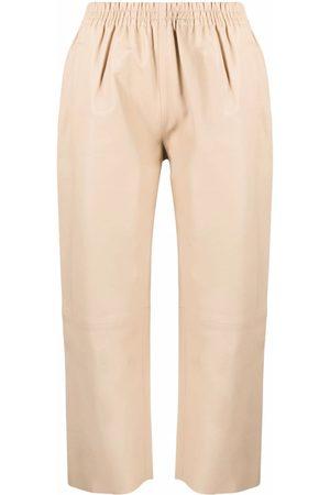 Pinko Mujer Pantalones capri y midi - Pantalones capri con cinturilla elástica
