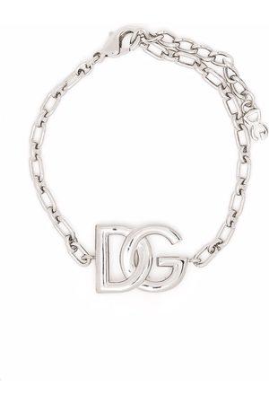 Dolce & Gabbana Pulsera de cadena con placa del logo