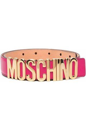 Moschino Cinturón ajustable con placa del logo
