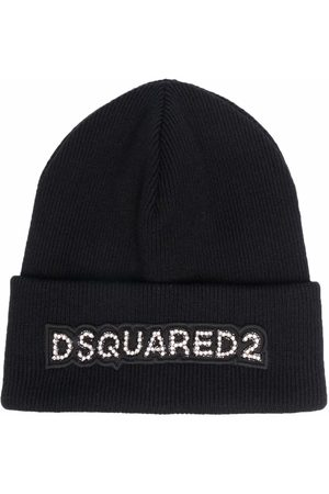 Dsquared2 Mujer Gorros - Wool logo patch beanie