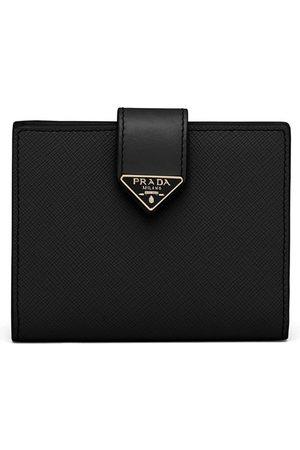Prada Small logo-plaque Saffiano leather wallet