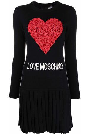 Love Moschino Vestido con corazón de tul