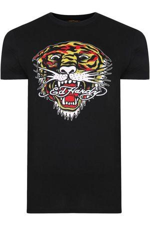 Ed Hardy Camiseta Tiger mouth graphic t-shirt black para mujer