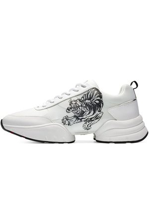 ED HARDY Deportivas Moda Caged runner tiger white-black para mujer
