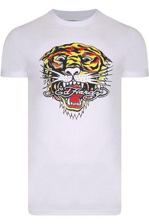 ED HARDY Camiseta Tiger mouth graphic t-shirt white para mujer