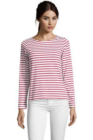 Sols Camiseta manga larga CAMISETA MUJER MANGA LARGA A RAYAS para mujer