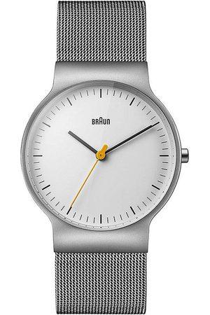 von Braun Reloj analógico Brawn BN0211WHSLMHG, Quartz, 38mm, 3ATM para hombre