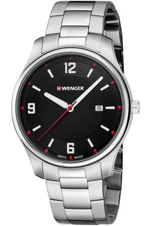 Wenger Reloj analógico 01.1441.110, Quartz, 43mm, 3ATM para hombre