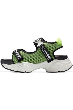 ED HARDY Sandalias Aqua sandal green-black para mujer