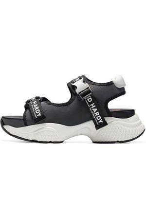 ED HARDY Sandalias Aqua sandal iridescent charcoal para mujer