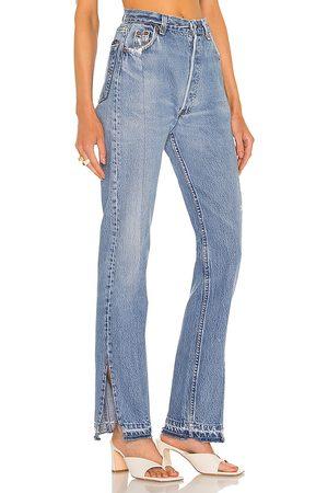 EB Denim Jean pierna recta unraveled en color azul talla 23 en - Blue. Talla 23 (también en 24, 25, 26, 27, 28, 29, 30, 31, 32).