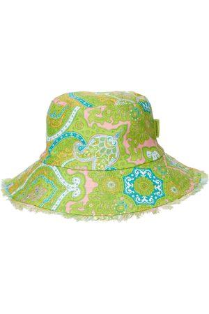 ZIMMERMANN Sombrero de pescador de lino con estampado paisley
