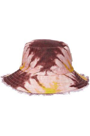 Zimmermann Sombrero de pescador de lino tie-dye