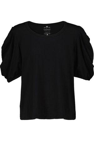 Velvet Mujer Manga corta - Camiseta Kiera de punto de algodón