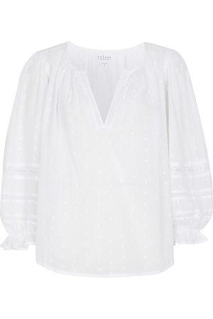 Velvet Blusa Imani de algodón fil coupé