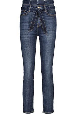 7 for all Mankind Mujer Cintura alta - Jeans ajustados paperbag