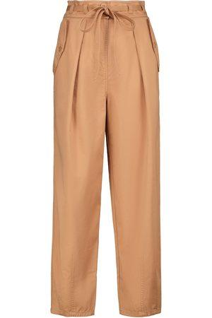 ULLA JOHNSON Mujer Pantalones slim y skinny - Pantalones tapered Lars de algodón