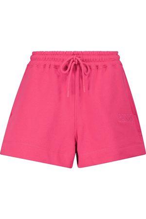 Ganni Mujer Pantalones cortos - Shorts en mezcla de algodón