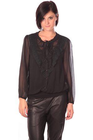 Aggabarti Camisa manga larga Chemisier Dana 112043 Noir para mujer