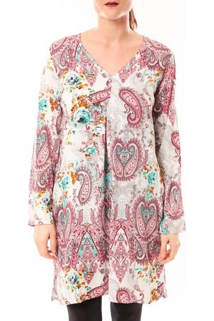 Dress Code Túnica Robe Moda H G-0080-3 Blanc/Rose para mujer