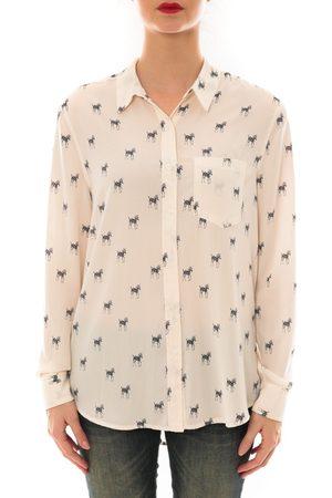 Davis Camisa manga larga Chemise SALLY ecru imprimée zebre para mujer