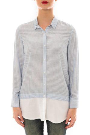 Davis Camisa manga larga Chemise Samy rayée Bleu/Blanc para mujer