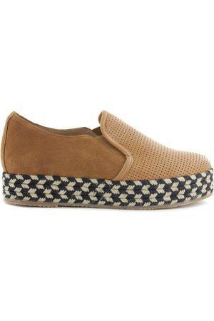 Cubanas Zapatos Mujer Alpargata Kitty410 Camel para mujer