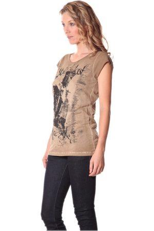 Rich & Royal Mujer Camisetas y Tops - Camiseta Tee-shirt Little 13q430 Camel para mujer
