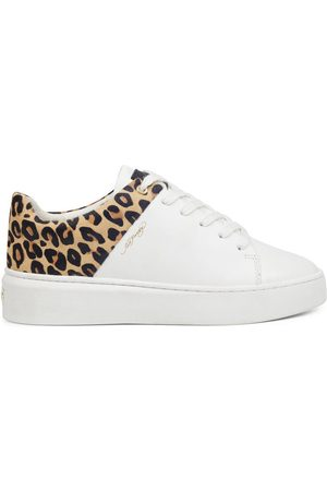 Ed Hardy Zapatillas Wild low top white leopard para mujer