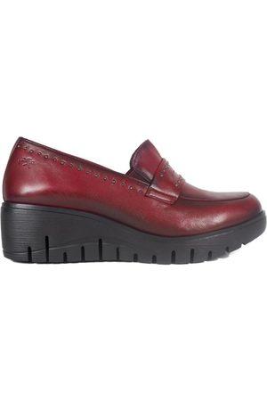 Fluchos Mocasines Zapatos F0695 Burdeos para mujer