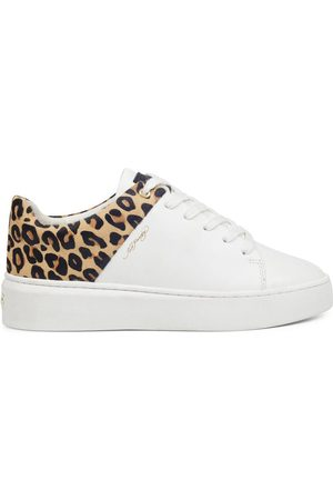 ED HARDY Zapatillas - Wild low top white leopard para mujer