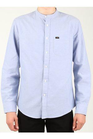 Lee Camisa manga larga Bandcollar Blue L67JITSF para hombre
