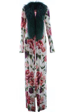 D G Abrigo Women Silk Floral Coat para mujer