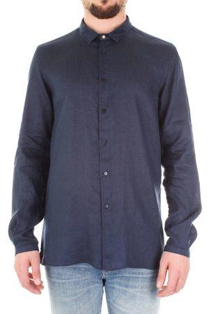 Bicolore Camisa manga larga F3760-TASSO para hombre