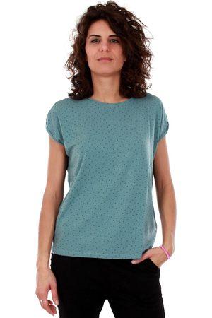 Vero Moda Camiseta 10211314 VMAVA PLAIN SS TOP AOP GA COLOR SMOKE BLUE para mujer