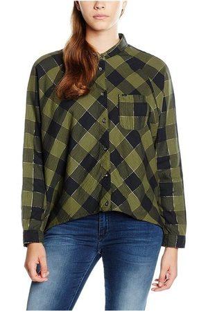 Wrangler Camisa L/S Clover Green W5176C8FR para mujer