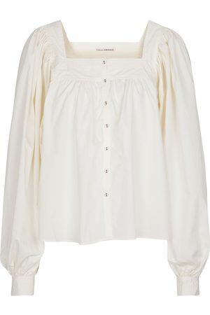ULLA JOHNSON Blusa Amaris de popelín de algodón