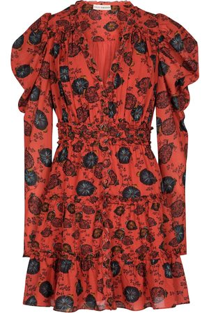 ULLA JOHNSON Vestido corto Windsor en mezcla de algodón floral