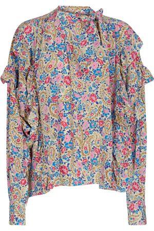 Isabel Marant Blusa Libelzia de seda elástica floral