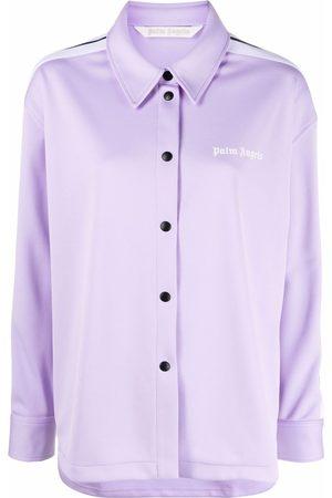 Palm Angels Camisa de chándal con logo estampado